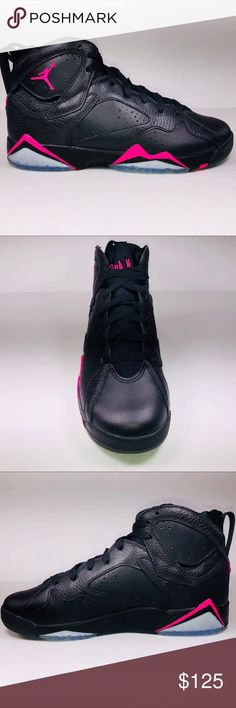 best loved 0c176 a23e3 Air Jordan Retro 7 GG Hyper Pink Black Sneakers New With Damaged Box  Missing Lid See