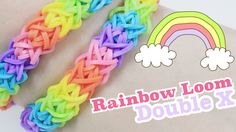 Rainbow Loom: Double X Bracelet Tutorial, Show Your Crafts and DIY Projects. Rainbow Loom Tutorials, Rainbow Loom Patterns, Rainbow Loom Creations, Rainbow Loom Bands, Rainbow Loom Bracelets, Loom Bands Instructions, Loom Bands Tutorial, Bracelet Tutorial, Loom Band Patterns