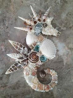Seahorse Art, Seashell Art, Seashell Crafts, Seahorses, Sea Crafts, Nature Crafts, Crafts To Make, Arts And Crafts, Seashell Projects