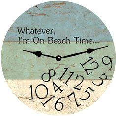 Beach Wall Clock with Quote.... http://www.beachblissdesigns.com/2016/10/wooden-beach-wall-clocks.html Brilliant...