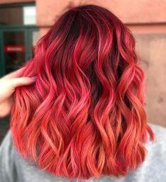 Beautiful hair – – - All For Hair Color Balayage Cute Hair Colors, Hair Dye Colors, Bright Hair Colors, Hair Color Dark, Cool Hair Color, Color Red, Dye My Hair, New Hair, Balayage Hair