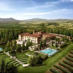 It's not a fantasy: this is the Castello di Casole in #Italy.