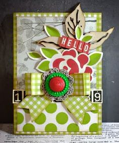 love this mix of papers and textures.