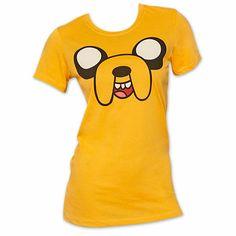 Adventure Time Jake Face Junior Women's T Shirt - Orange