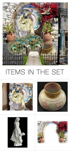 """""""Country Villa"""" by pattysporcelainetc ❤ liked on Polyvore featuring art, vintage and country"""