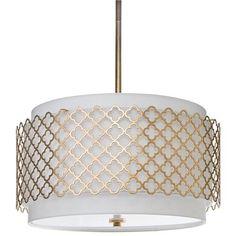 Lighting - Regina Andrew Modern Luxe Gold Chandelier I Zinc Door - gold moroccan drum pendant, gold moroccan quatrefoil chandelier, gold qua...