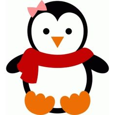 Silhouette Design Store – View Design christmas penguin 2 - New Deko Sites Christmas Door Decorations, Christmas Crafts For Kids, Felt Christmas, Holiday Crafts, Christmas Design, Penguin Party, Penguin Craft, Penguin Clipart, St Nicholas Day