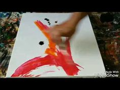 Acrylic abstract painting / Easy / fluid anstract painting / Palette knife / Demonstration - YouTube