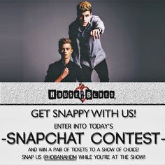 Hey Jack & Jack fans!  Take a snap of you and your friends singing your favorite song at the Jack & Jack concert TONIGHT for the chance to win 2 tickets to a concert of your choice!  Snap us at: HOBanaheim.  Winners will be announced by 10 PM tonight! Thanks and good luck!  #jackandjack #anaheim #hob #friday #downtowndisney #oc #orangecounty #snapchat by hobanaheim