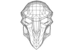 Overwatch - Reaper Mask Papercraft Ver.2 Free Template Download