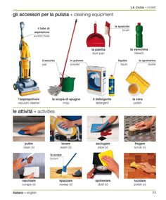 Learning Italian - Cleaning Equipment