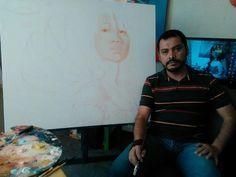 Yo en mi estudio de arte by Mbordones