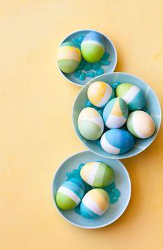 Easter egg crafts: Dip-Dye Design Easter Eggs
