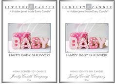 New Happy Baby Shower Greeting Card Jewelry Candle with Jewerly Inside Buyer Chooses Scent #jewelrycandles @eBay #ebay @JewelryCandles.com