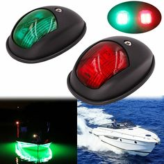 Boating & Watersports 1 Pair Marine Boat Navigational Side Bow Tear Drop Lights ABS Plastic Flush Mount