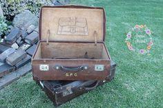#vintage #rustic #suitcases