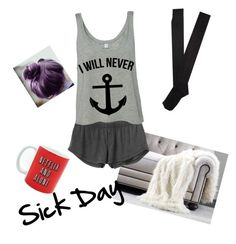 """""""Sick Day"""" by veckane ❤ liked on Polyvore featuring Ethan Allen, RVCA and Aéropostale"""