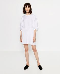 96585c5764456 SHORT POPLIN DRESS - COLLECTION-SALE-WOMAN. 休日のファッションカジュアルファッションドレス・ワンピース  ...