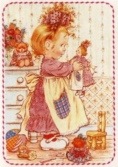 Sarah Kay Sarah Key, Holly Hobbie, Cute Images, Cute Pictures, Mary May, Baby Posters, Dibujos Cute, Cute Illustration, Vintage Cards