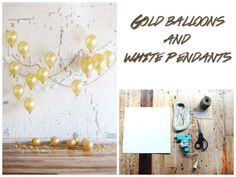 Weighted down balloons and white paper can transform a room.