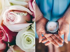 #Bridal details; #rings and flowers