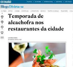 #fabulososnamidia #restaurantesãoroque  #gastronomiaitaliana Stefano Hotel e Restaurante no Blog do Divirta-se | O Estado de São Paulo | Lucineia Nunes | Festival da Alcachofra.