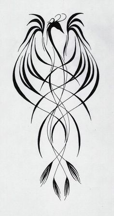 phoenix-I'd get this in watercolor orange, red, and yellow probably on my upper…