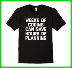 Mens Weeks Of Coding T-Shirt funny programmer computer geek nerd Small Black - Careers professions shirts (*Amazon Partner-Link)