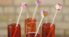 DIY Faceted Drink Stirrers