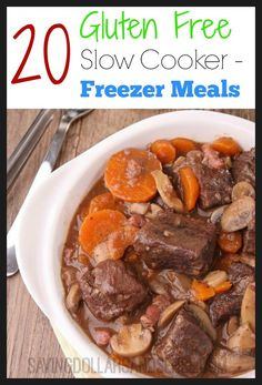 Find out how to make 20 Gluten Free Slow Cooker Freezer meals for under $150 in less than 2 hours!!