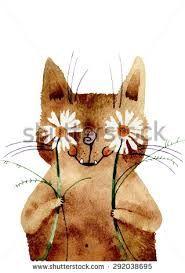 Картинки по запросу watercolor cat