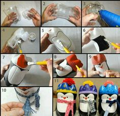 Awesome idea for recycling old 2 liter bottles into cute holiday decorations!