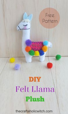 Diy felt llama plush free pattern stitchedanimalpattern diyplush llamaplush llamastuffedtoy feltcraft softtoy 39 brilliant ideas how to use felt ornaments for christmas tree decoration 08 Felt Animal Patterns, Felt Crafts Patterns, Felt Crafts Diy, Felt Diy, Stuffed Animal Patterns, Felt Patterns Free, Sewing Patterns, Felt Doll Patterns, Felt Ornaments Patterns