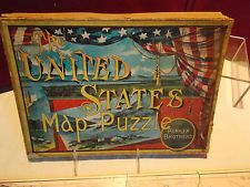 Parker Bros. The United States Map Puzzle