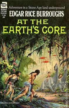 F-156 EDGAR RICE BURROUGHS At the Earth's Core (cover and title page…