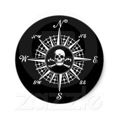 Skull Compass Tattoo Design photo - 2