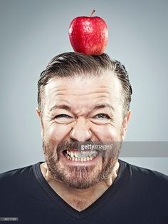 Comedian Ricky Gervais is photographed for GQ magazine on March 20, 2013 in London, England.