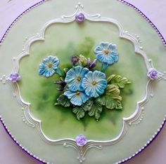 Royal icing. Brush embroidery my way