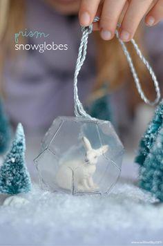 DIY: Prism Snow Globes
