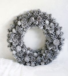 """20"""" Painted Pine Cone wreath for Christmas $26.06"""