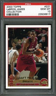 nice 2003 Topps Collection LEBRON JAMES #221 Rookie PSA 10 Basketball Card - For Sale View more at http://shipperscentral.com/wp/product/2003-topps-collection-lebron-james-221-rookie-psa-10-basketball-card-for-sale/