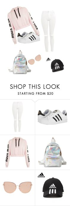 """Untitled #1"" by bross-2 ❤ liked on Polyvore featuring Topshop, adidas and Charlotte Russe"