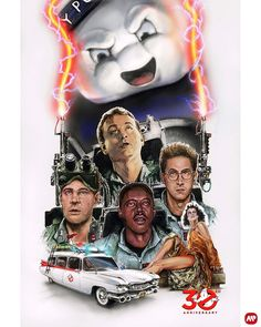 An alternative movie poster for the film Ghostbusters, created by Mark Button, featured on AMP. Extreme Ghostbusters, The Real Ghostbusters, Ghostbusters Poster, Die Geisterjäger, Digital Foto, Ghost Busters, Alternative Movie Posters, Movie Poster Art, Film Serie