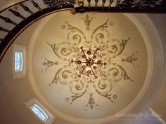 Hand Painted Dome Ceilings | Anything But Plain -Hand-Painted Dome with Diamond Plaster