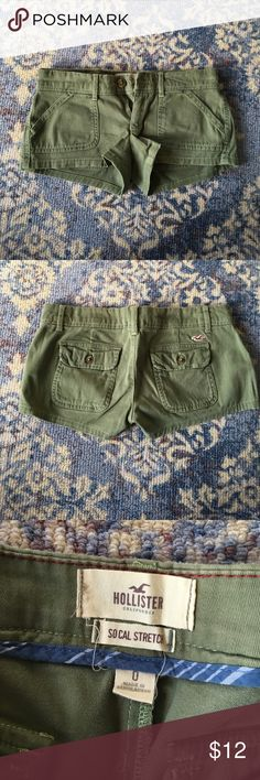 Green short shorts Green shorts from Hollister that are in perfect condition Hollister Shorts