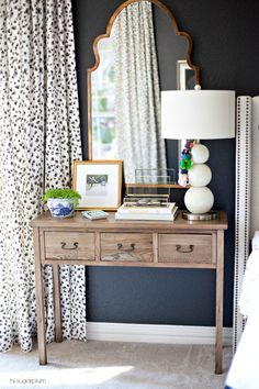 custom leopard curtains by Tonic Living for @hisugarplumsblog