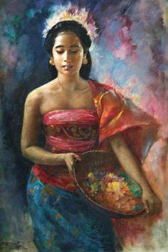 Basoeki Abdullah (Solo, 1915 – Jakarta, 1993) - Wanita di Jawa.