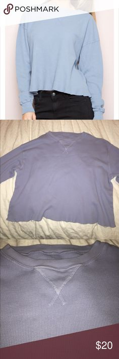 Brandy Melville Laila top Beautiful light blue, only worn a handful of times! Brandy Melville Tops Tees - Long Sleeve