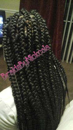 Crochet Braids Rubber Band Method : ... style on Pinterest Jumbo box braids, Faux locs and Box braids