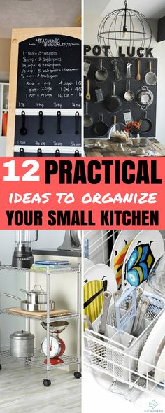 Practical Ideas to Organize Your Small Kitchen #organization #smallkitchen #interiors #homedecor